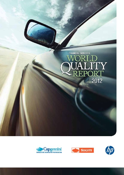 Financial Services World Quality Report 2012