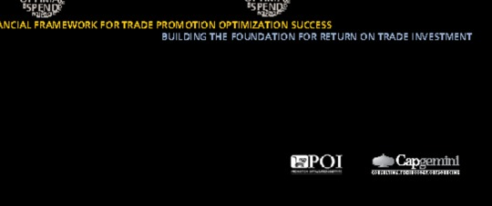 The Financial Framework for Trade Promotion Optimization Success