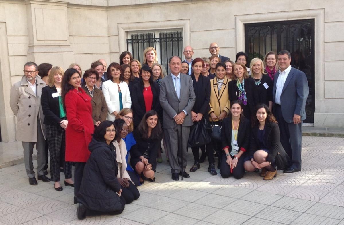 Global Women@Capgemini core team together with Capgemini Group Chairman and CEO, Paul Hermelin