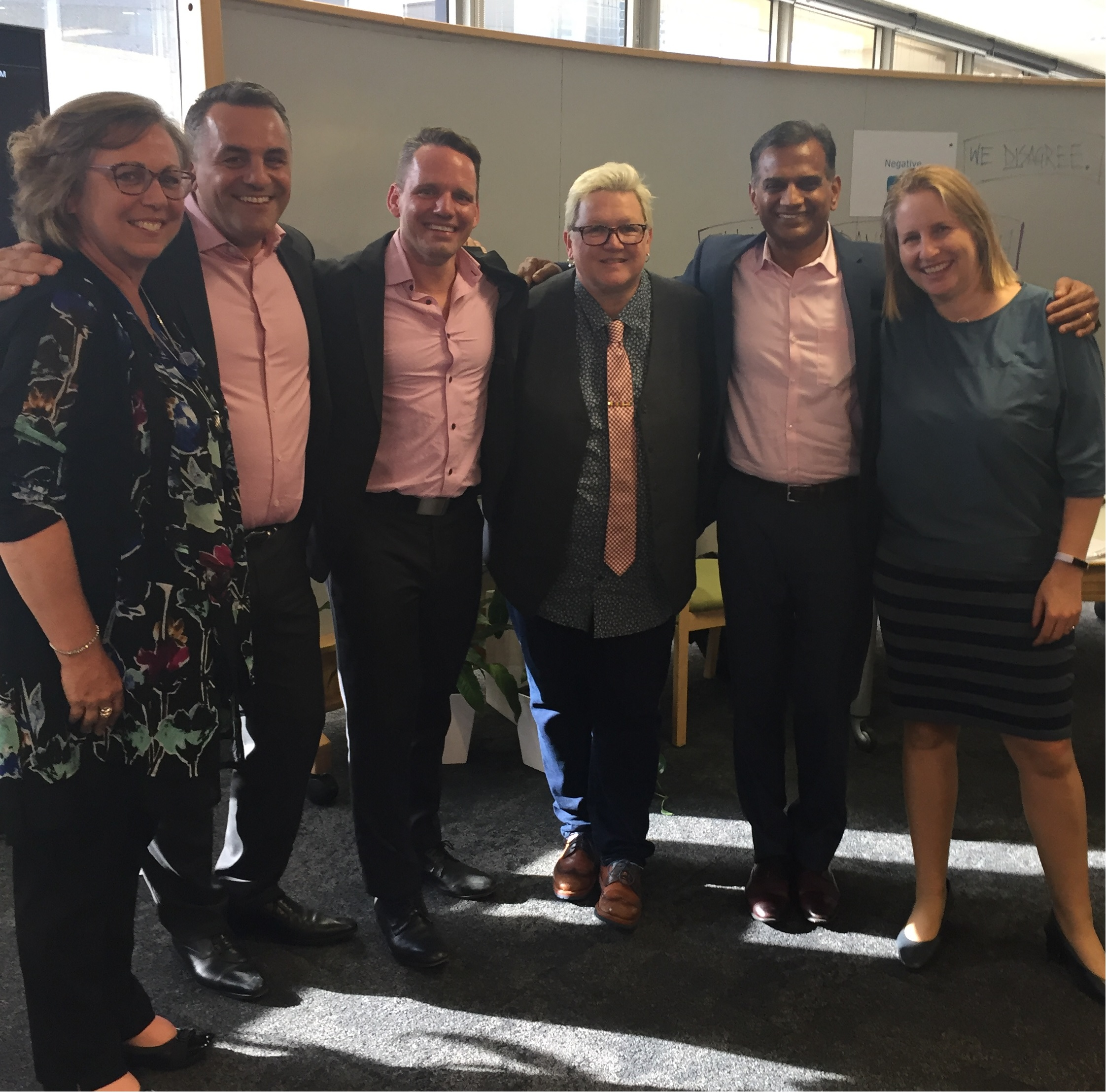 Members of our Women@Capgemini Australia team: Michelle Butler, Danny Klaic, Elliot Dowling, Steph Sands, Siva Kumar and Cathy Aboud.