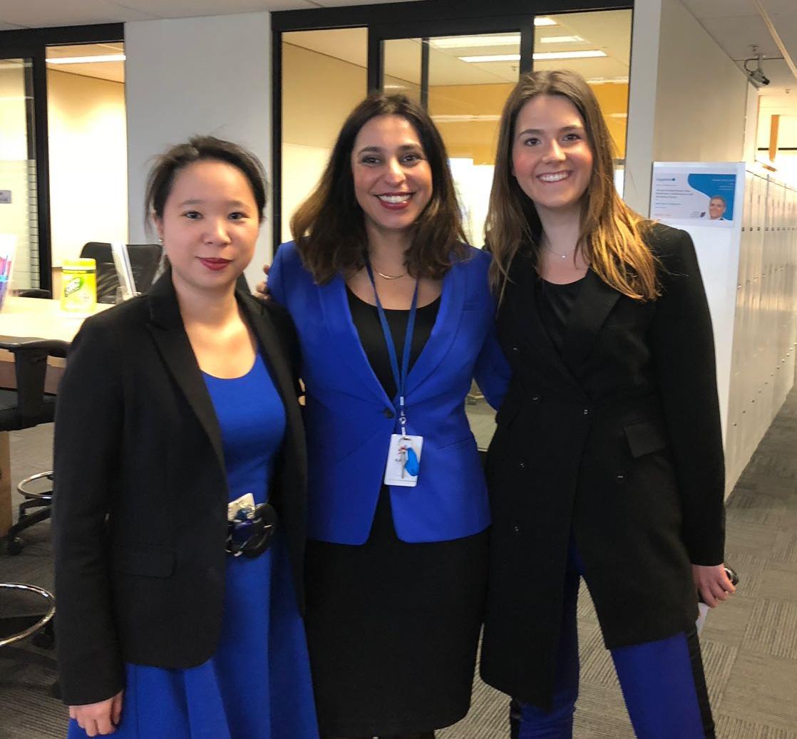 Members of our Women@Capgemini Australia team: Jacintha Soo Ho, Sunainika Saigal and Stephanie Grant.
