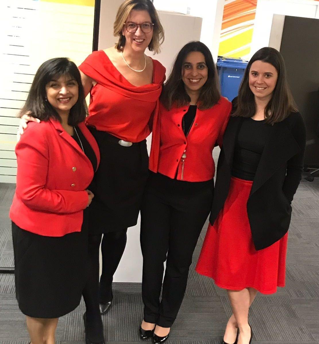 Members of our Women@Capgemini Australia team: Sharon Rode, Barbera Kiefte, Sunainika Saigal and Chloe Sanford.