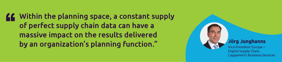 Supply chain data integrity as the foundation of touchless planning