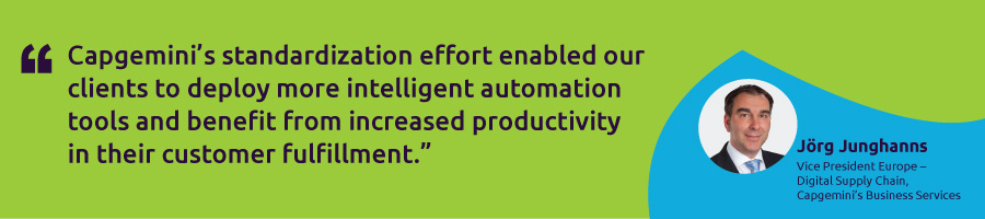Increased productivity from intelligent automation for a UK-based CPG company