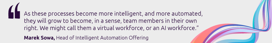 Marek Sowa, Head of Intelligent Automation Offering, Capgemini's Business Services