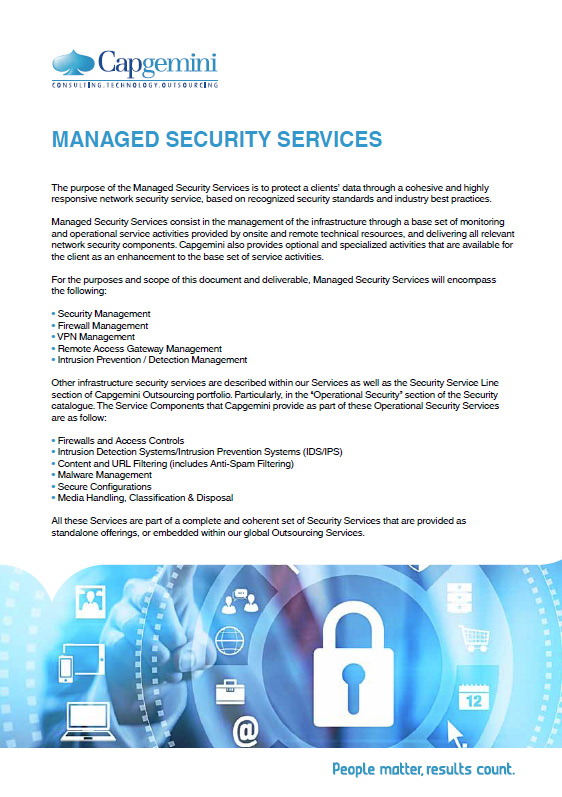 Managed Security Services – Capgemini Brasil