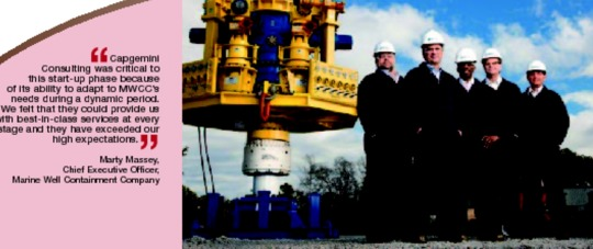 Capgemini Consulting Helps to Launch Marine Well Containment Company Putting the Oil and Gas Industry Back to Work