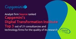 凯捷数字化转型研究院凭借高质量研究跻身Source Global Research排行榜前三