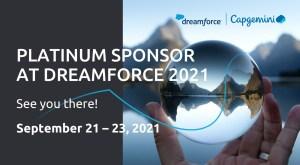Capgemini - Dreamforce 2021. Platinum sponsor.
