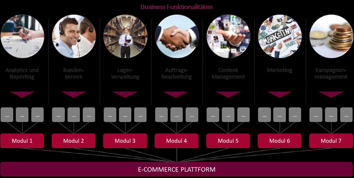 Integration von Business Funktionalitäten in die E-Commerce Plattform