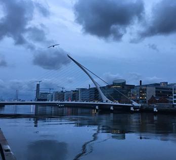 Samuel Beckett Bridge in Dublin