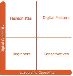 Vier niveaus van digital mastery