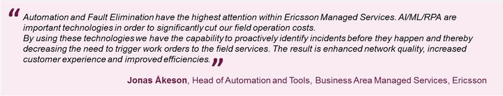 Cutting network field operation costs by up to 25% with RPA & AI