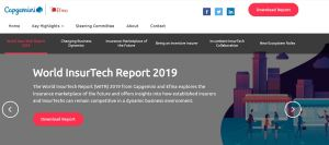 Website World InsurTech Report 2019