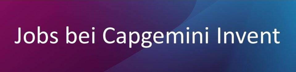 Hier bewerben - Capgemini Invent