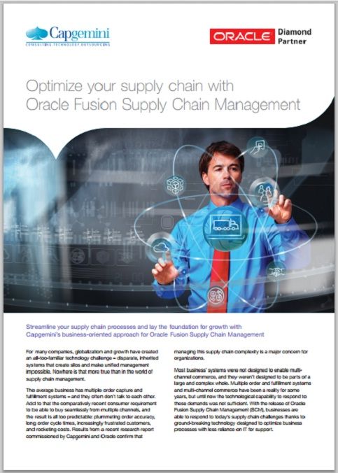 Optimize your supply chain with Oracle Fusion Supply Chain