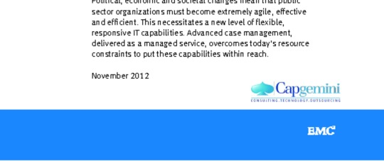 Transforming the Public Sector afordably in the cloud