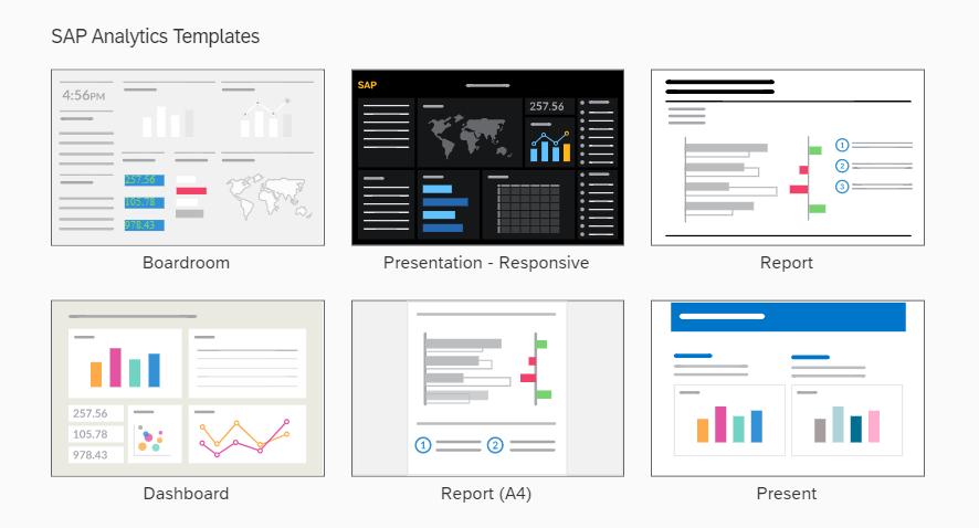 SAC's Analytics templates - Source: Capgemini UK
