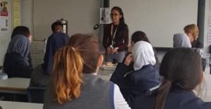 Priyal Bhanderi - outreach in classroom