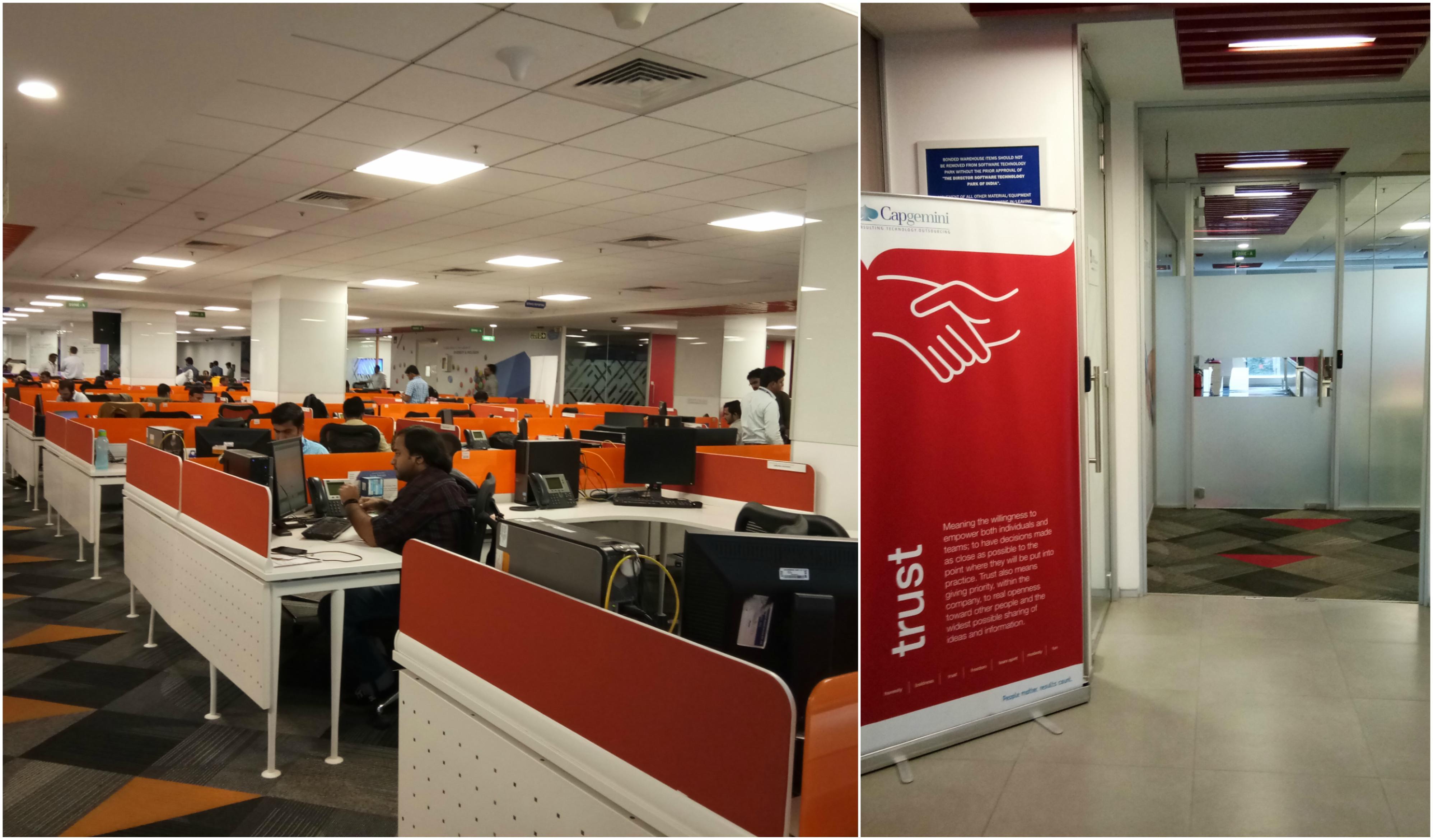 software company office. Manyata Tech Park Facility Software Company Office U