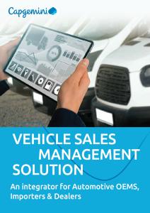 Vehicle sales management