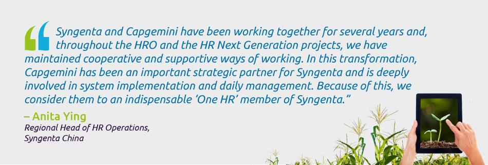 Anita Ying - Regional Head of HR Operations, Syngenta China