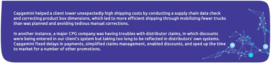 Capgemini supply chain data