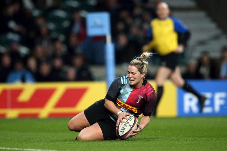 Rachael Burford for Harlequins - Capgemini Rugby7s ambassador