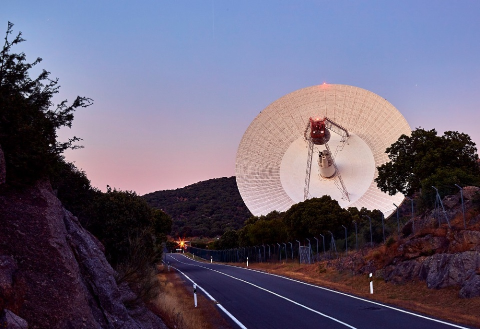 NASA's Deep Space Network radio dishes receive data from distant spacecraft
