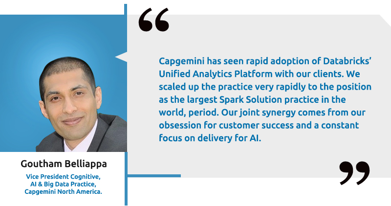 Goutham Belliappa, VP, AI and Big Data Practice, Capgemini North America