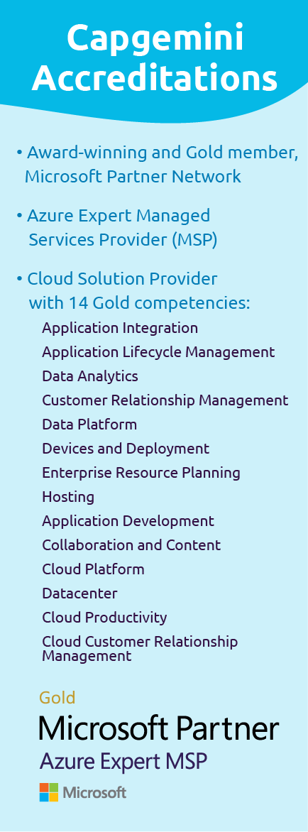 Microsoft Partner Gold Partner, Azure Expert MSP | Accreditations