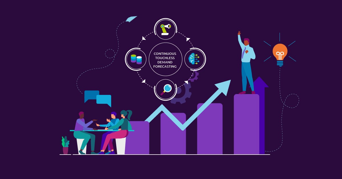 Continuous touchless demand forecasting