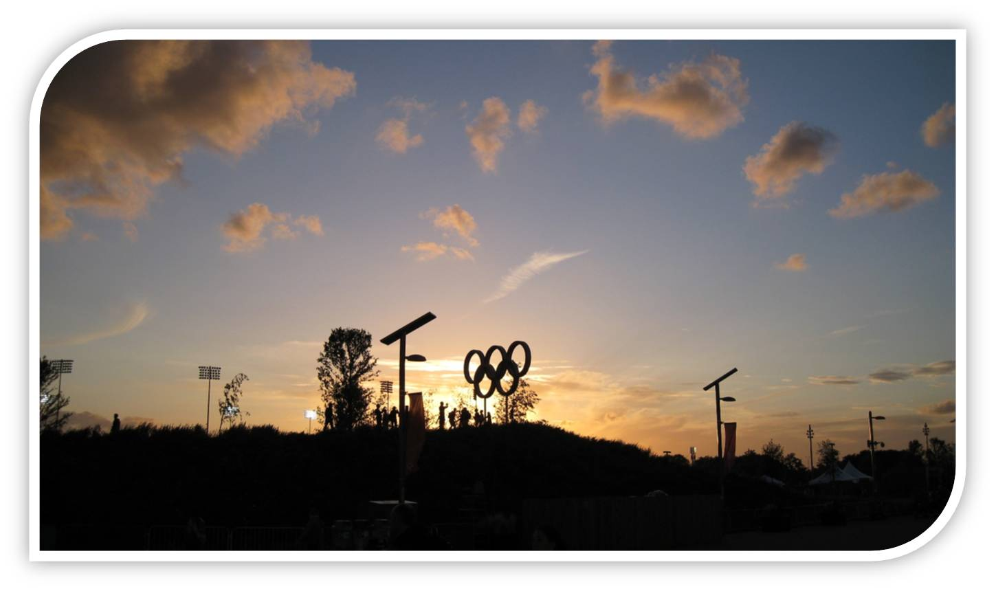 Sunset at the Olympic Park