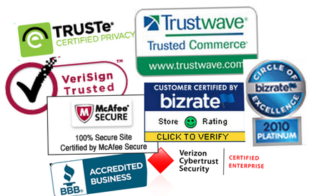 Generate trust with security, privacy and other trust badges