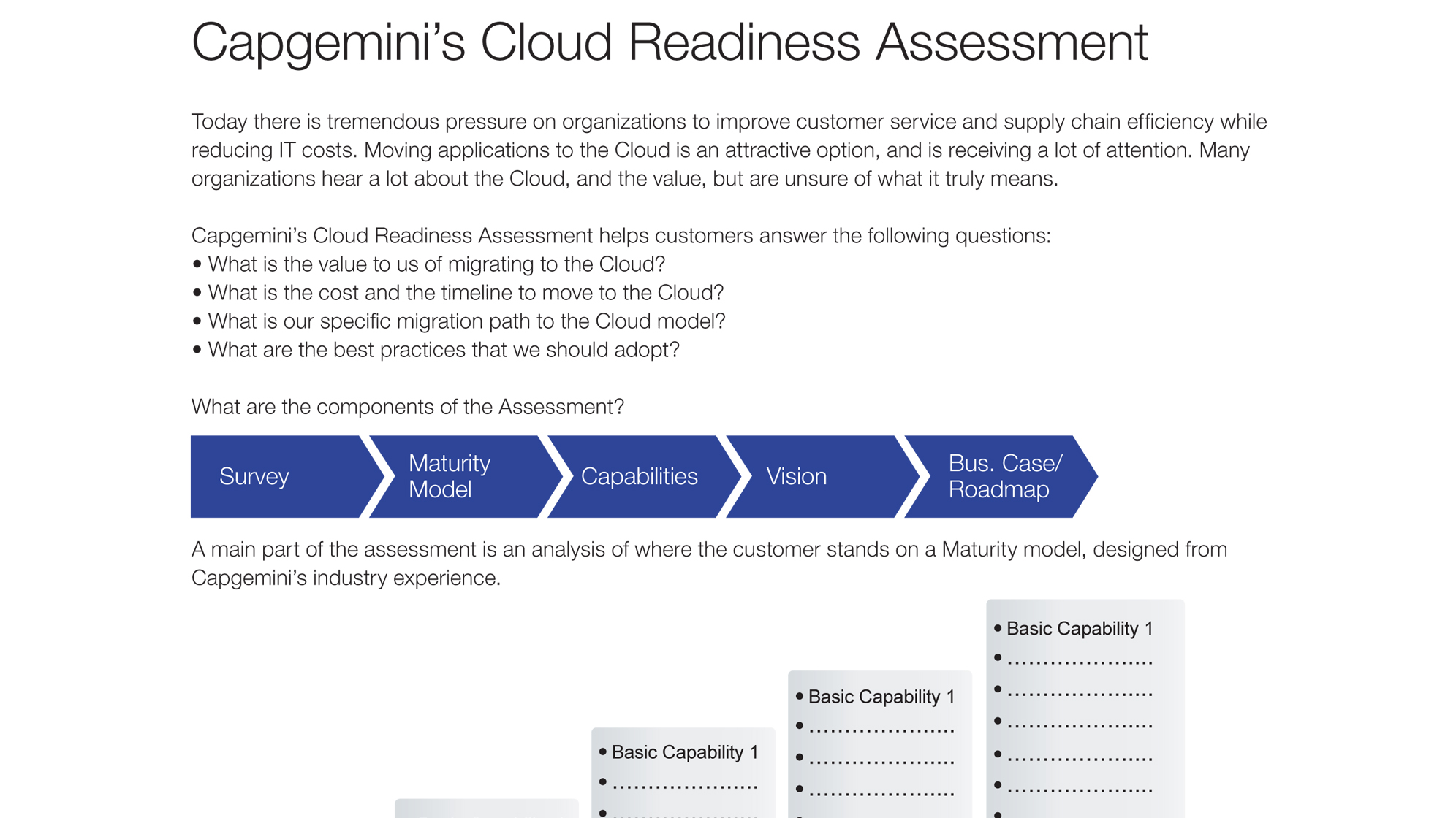 capgemini cloud assessment  u2013 capgemini worldwide