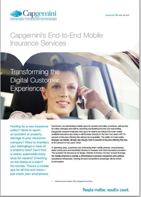 Capgemini's End-to-End Mobile Insurance Services