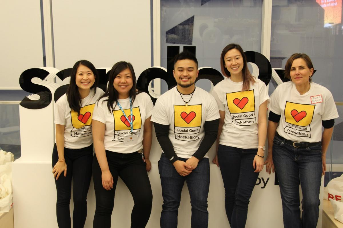 Some of the Social Good Hackathon Organizers from MIC Toronto, CIBC, and Sandbox by DMZ