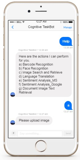 Cognitive Task Bot for general machine learning use cases