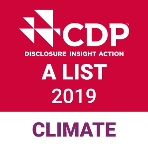"CDP ""A"" List stamp for Climate Action"