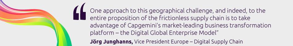 Jörg Junghanns, Vice President Europe, Digital Supply Chain, Capgemini's Business Services