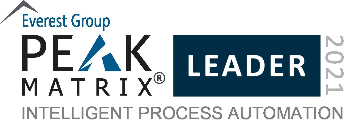 Intelligent Process Automation 2021_Leaders_PEAK Matrix Badges