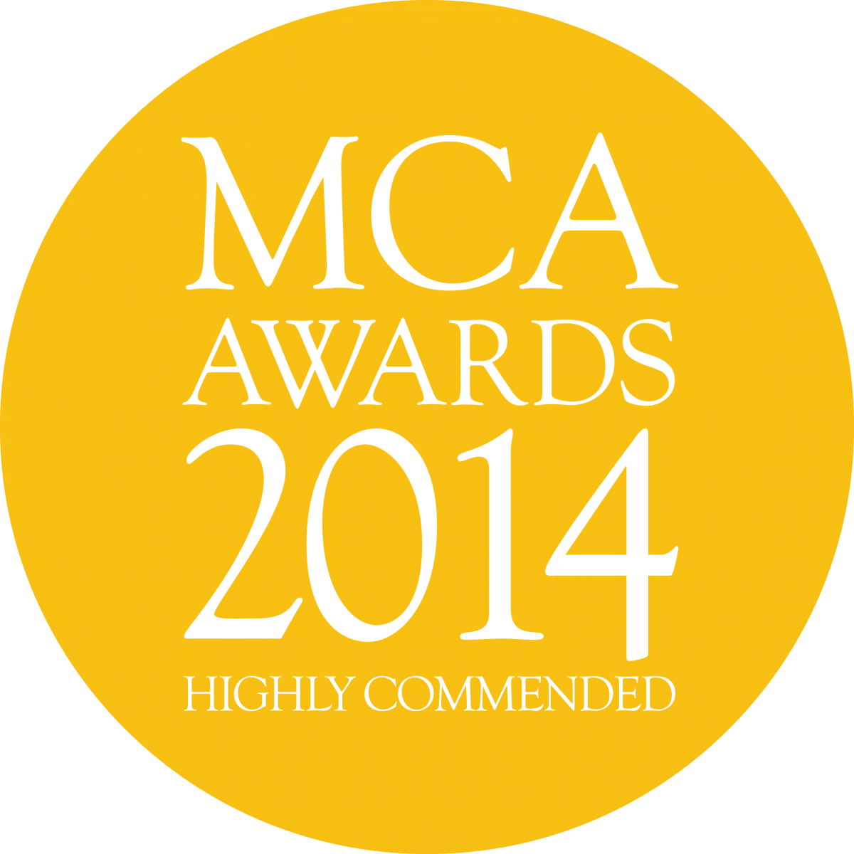 MCA Awards 2014 - highly commended