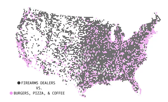 Data Visualisation A Selection Of My Favourites June - Us map of food volume