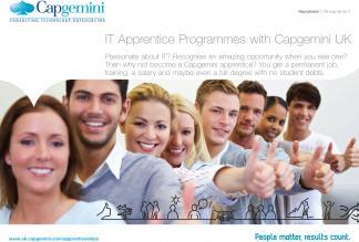 IT Apprentice Programmes with Capgemini - click here