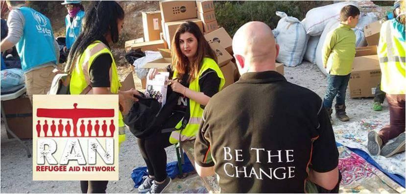 RAN team handing out aid