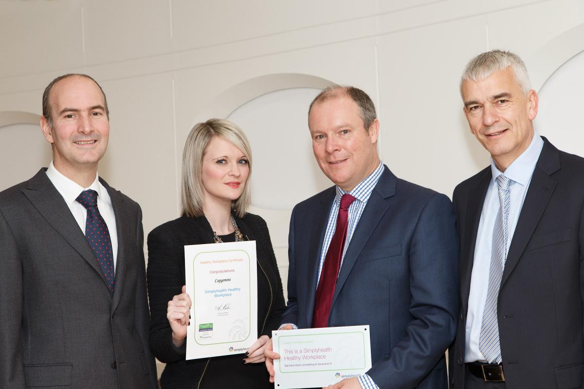 Capgemini UK receives a Simplyhealth Healthy Workplace award