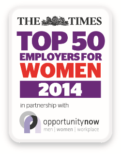 Times Top 50 Employers for Women 2014