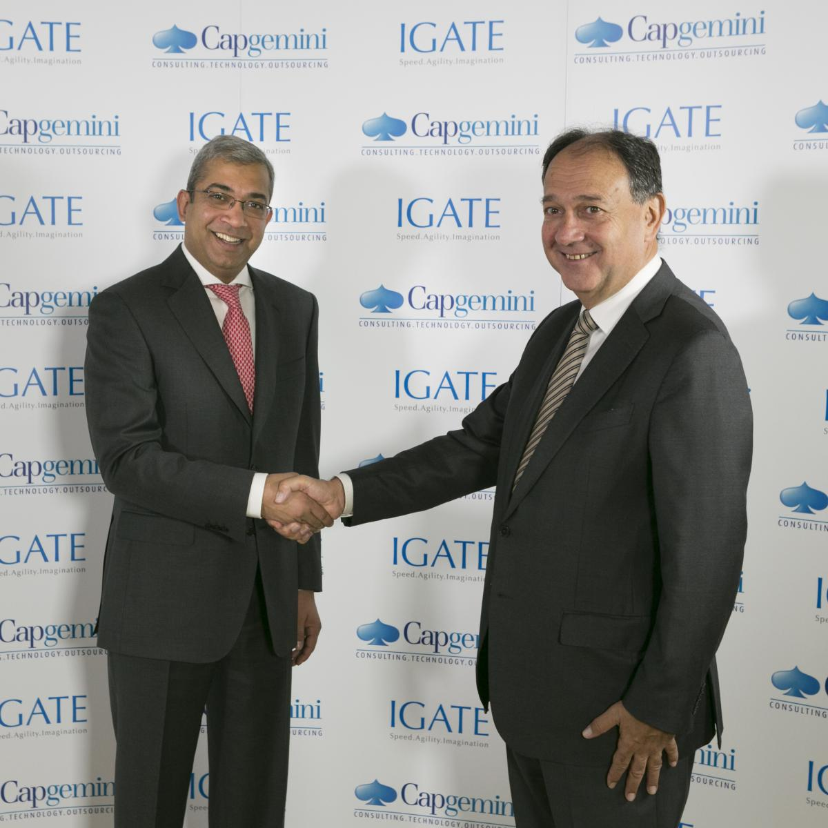 Paul Hermelin with IGATE CEO, Ashok Vemuri
