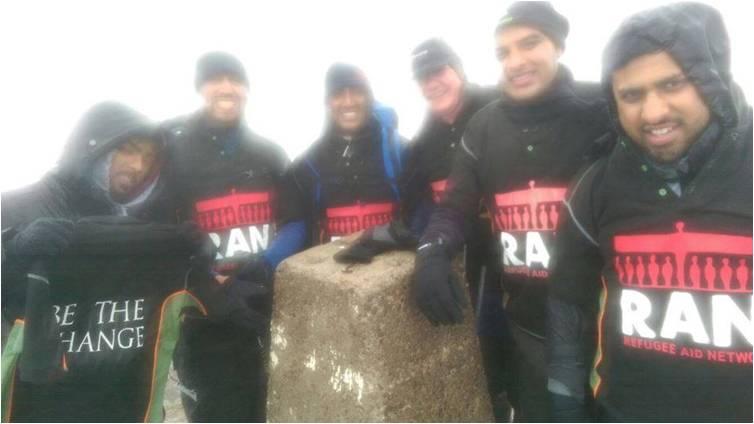 RAN Trekkers at the top of Ben Nevis!