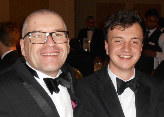 Barry Weston and William Gibbons from Sogeti at the European Tester of the Year Awards 2013